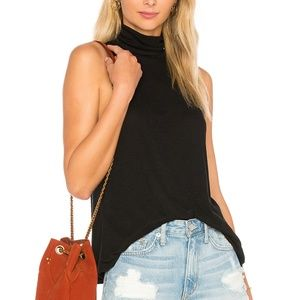 Free People Topanga Sleeveless Turtleneck Tank Top